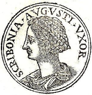 """Scribonia (wife of Augustus) - Scribonia from """"Promptuarii Iconum Insigniorum """""""