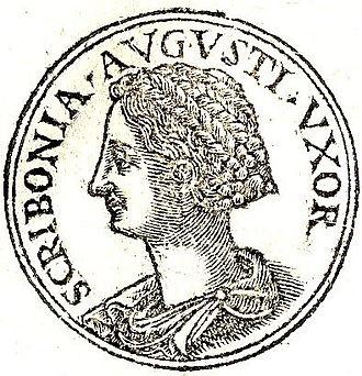 """Scribonia (wife of Octavian) - Scribonia from """"Promptuarii Iconum Insigniorum """""""