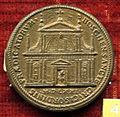 Scuola romana, medaglia di pio V, 1571, santa croce dei predicatori in bosco.JPG