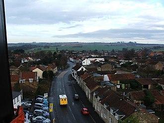Seamer, Scarborough - Seamer Main Street looking towards Irton Moor