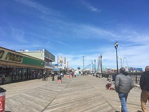 Seaside Heights, New Jersey - Seaside Heights boardwalk looking toward Casino Pier