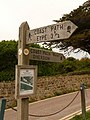 Seatown, coast path diversion sign - geograph.org.uk - 1353575.jpg