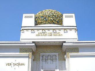 Vienna Secession - A view of the secession building focusing on the dome.
