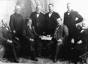 Joseph Ward - The Seddon Ministry in 1900. Ward is second from the right in the bottom row
