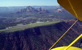 Non-towered airport - Sedona Airport, in Arizona's Verde Valley, is one of the many airports that operate without a control tower.