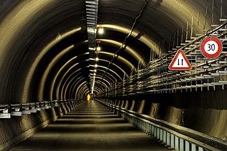 Porta Alpina - Access to the shafts
