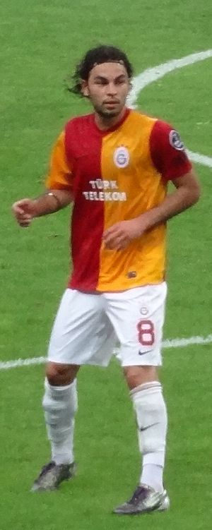 Selçuk in a September 2011 match against Samsunspor Selçukinansamsunspor.jpg