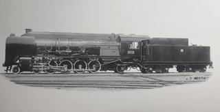 Sentetsu Matei-class locomotive 4-8-2 steam locomotive
