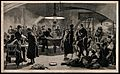 Serbo-Bulgarian War; a café scene in Nisch where soldiers an Wellcome V0015506.jpg