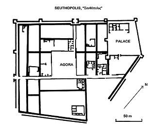 Seuthopolis - Seuthopolis city plan