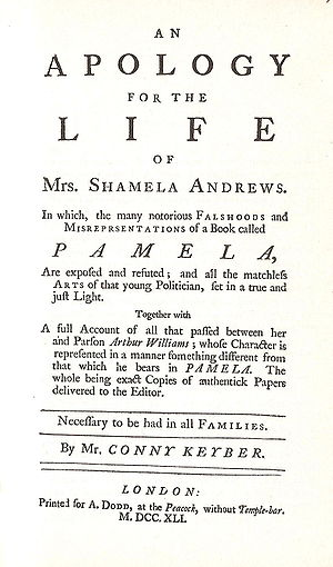 An Apology for the Life of Mrs. Shamela Andrews cover