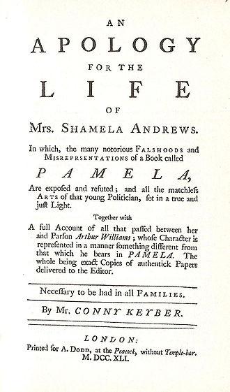 An Apology for the Life of Mrs. Shamela Andrews - Image: Shamela