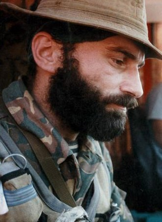 Shamil Basayev - Shamil Basayev during the Budyonnovsk raid, June 19, 1995.