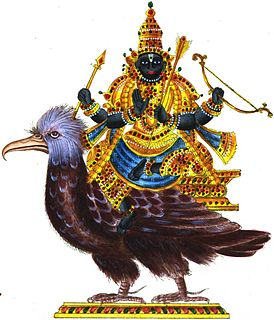 Shani Hindu deity of justice, as well as the planet Saturn