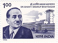 Shanti Swaroop Bhatnagar 1994 stamp of India.jpg