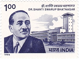 Shanti Swaroop Bhatnagar - Bhatnagar on a 1994 stamp of India