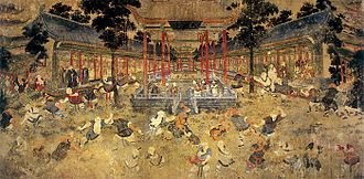 Shorinji Kempo - The mural painting in the Shaolin Monastery in which Doshin So took heavy influence from.