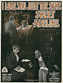 Sheet music cover - I LOVE YOU JUST THE SAME - SWEET ADELINE (1919).jpg