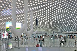 Parametric design - Departure Hall of Shenzhen Bao'an International Airport