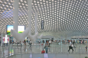Shenzhen Bao'an Int Airport T3 Hall 深圳宝安国际机场 photo Christian Gänshirt 2014.jpg