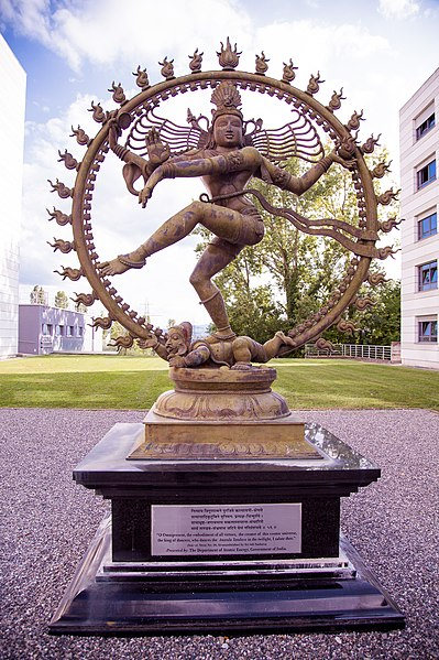 File:Shiva's statue at CERN engaging in the Nataraja dance.jpg