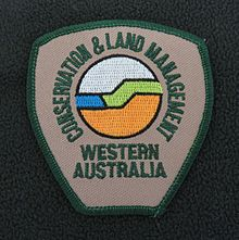 Shoulder badge CALM Western Australia Generic Fleece 2005.JPG