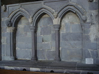 Saint David - The Shrine of Saint David, St David's Cathedral, prior to its reconstruction in the early twenty-first century.