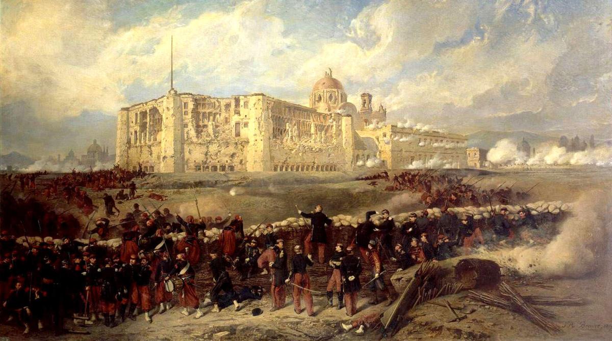 Pintura del Sitio de Puebla