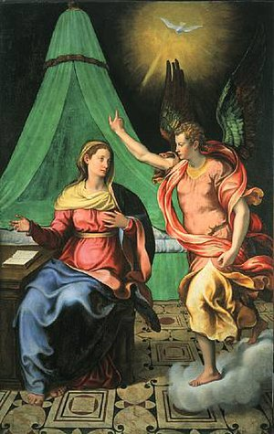 Counter-Maniera - Girolamo Siciolante da Sermoneta, Annunciation