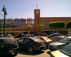 The clock of Sidi Gaber railway station
