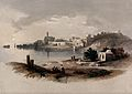 Sidon seen from the north. Coloured lithograph by Louis Hagh Wellcome V0049484.jpg