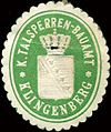 Siegelmarke Königliche Talsperren - Bauamt - Klingenberg W0213541.jpg