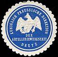 Siegelmarke K. Pr. Direktion der Artilleriewerkstatt Deutz W0285406.jpg