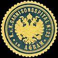 Siegelmarke K.u.K. Garnisonsspital No. 23 in Agram W0318181.jpg