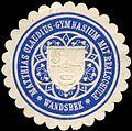 Siegelmarke Matthias Claudius - Gymnasium mit Realschule - Wandsbek W0204514.jpg