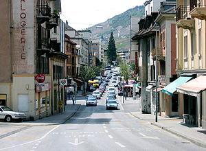 Sierre - Avenue General Guisan in Sierre