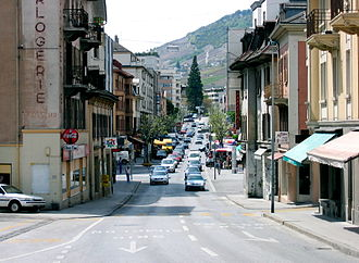 Sierre - Avenue General Guisan in Sierre