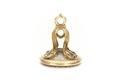Sigillstamp av guld och bergskristall - Skoklosters slott - 92356.tif