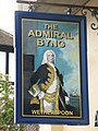 Sign for The Admiral Byng, Darkes Lane, Potters Bar (2) - geograph.org.uk - 1403350.jpg