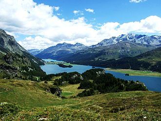 Canton of Grisons - The Upper Engadin valley near St Moritz