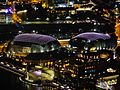 Singapore Esplanade - Theatres by the bay viewed from Marina Bay Sands bei Nacht 2.jpg