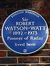 Sir ROBERT WATSON-WATT 1892-1973 Pioneer of Radar lived here.jpg
