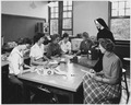 Sister Mary Helene ven Horst, science instructor at Marycrest College in Davenport, Iowa, teaches students the theory... - NARA - 542106.tif