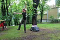 Slacklining at Petřín, Prague.JPG