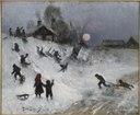 Sledging (Bruno Liljefors) - Nationalmuseum - 23553.tif