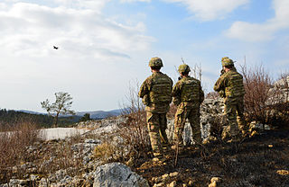 aerial warfare mission directly supporting friendly ground forces