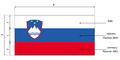 Slowenia flaga wymiary.png