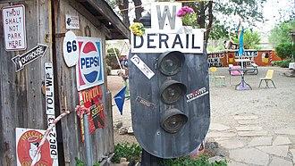 Delgadillo's Snow Cap Drive-In - Image: Snow cap block signal