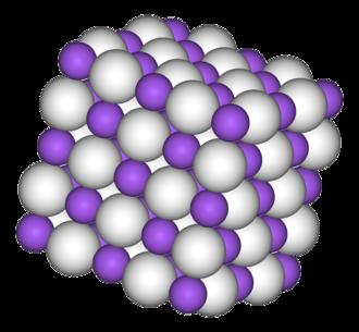 Sodium hydride - Image: Sodium hydride 3D vd W