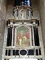 Soissons (02), cathédrale, collatéral nord du chœur, 1ère chapelle, autel et retable des saints Crépin et Crépinien 2.jpg